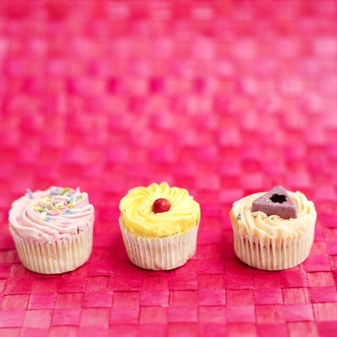 Array of Cream Filled Cupcakes