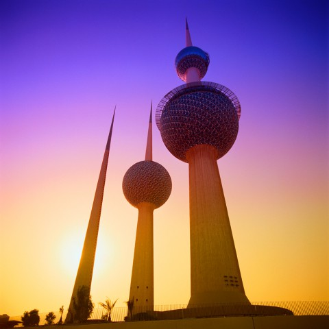 Kuwait Towers Seen From Below