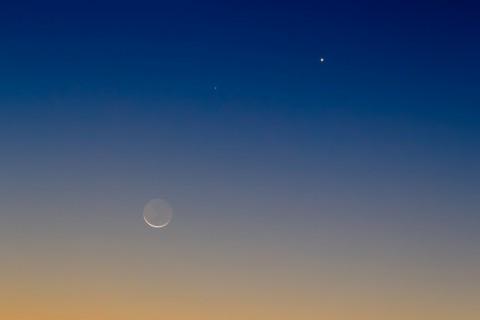 photo credit: Moon, Venus and Mercury via photopin (license)