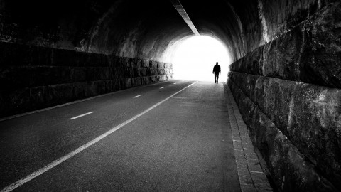 photo credit: Man going out of a tunnel - Helsinki, Finland - Black and white street photography via photopin (license)